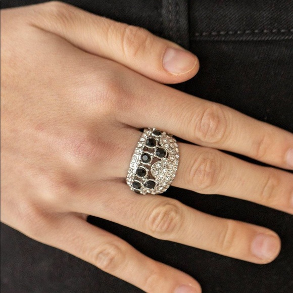 Imperial Incandescence Black & Silver Ring